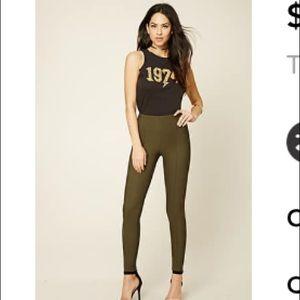 Forever 21 Olive Skinny Pants